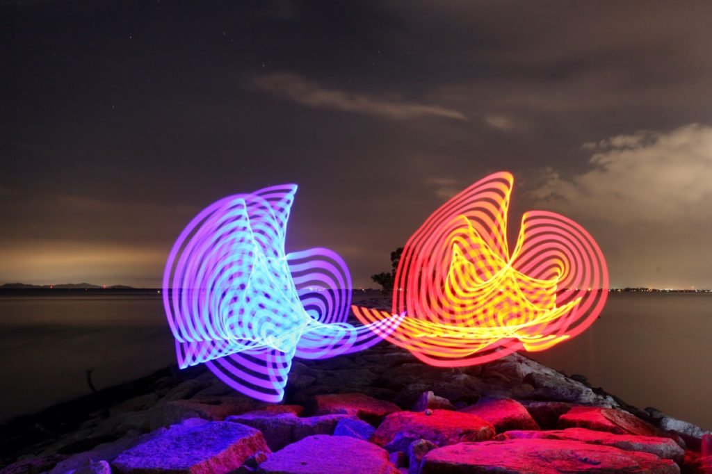Light patterns can easily be made using the pixelstick.