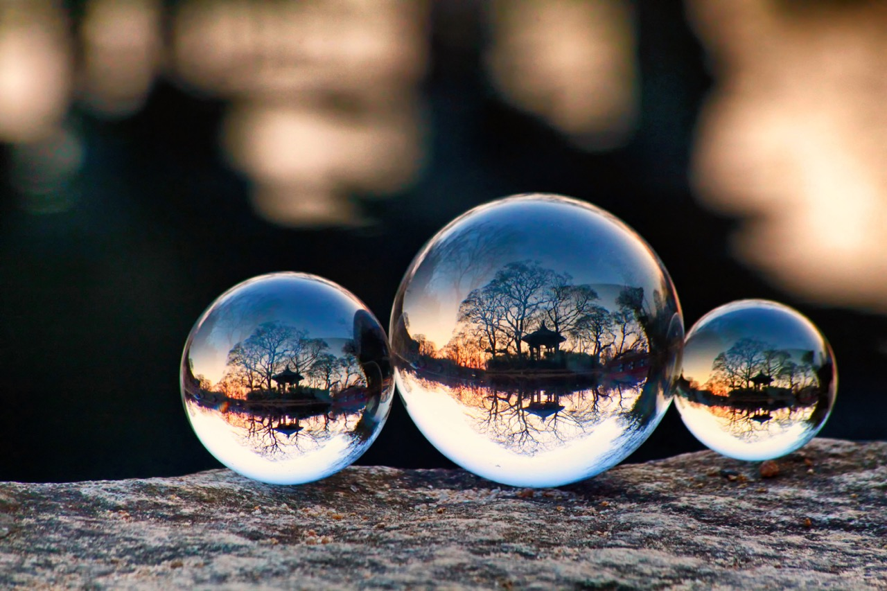 How to scout locations for lensball photography.